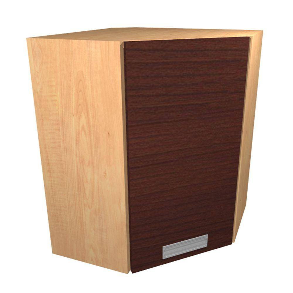 Home Decorators Collection Genoa Cherry/Thermo-fused melame Lamate Plywood Shaker Stock Ready to Assemble Wall Kitchen Cabinet 24 in. W x 12 in. D, Cherry/Thermo-fused melamine