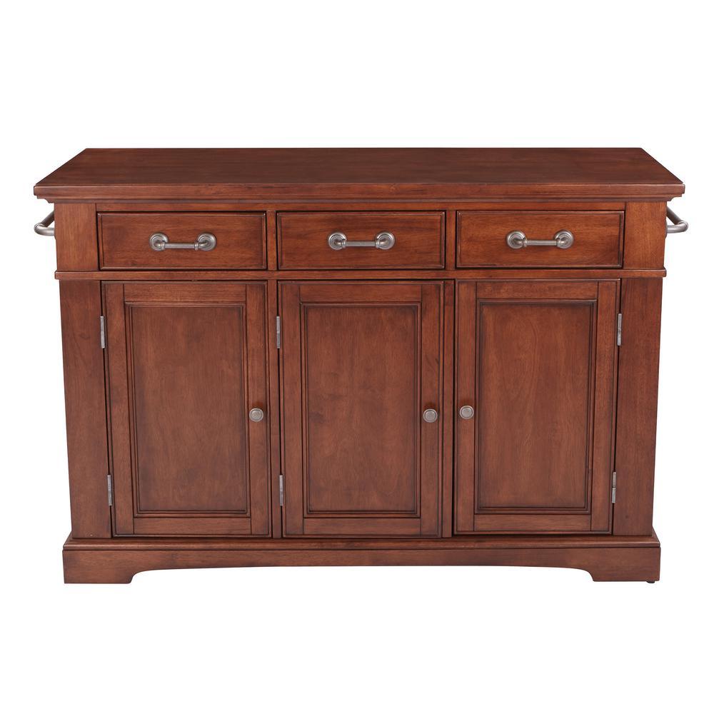 OSP Home Furnishings Country Vintage Oak Kitchen Large Kitchen Island, Brown/Vintage Oak