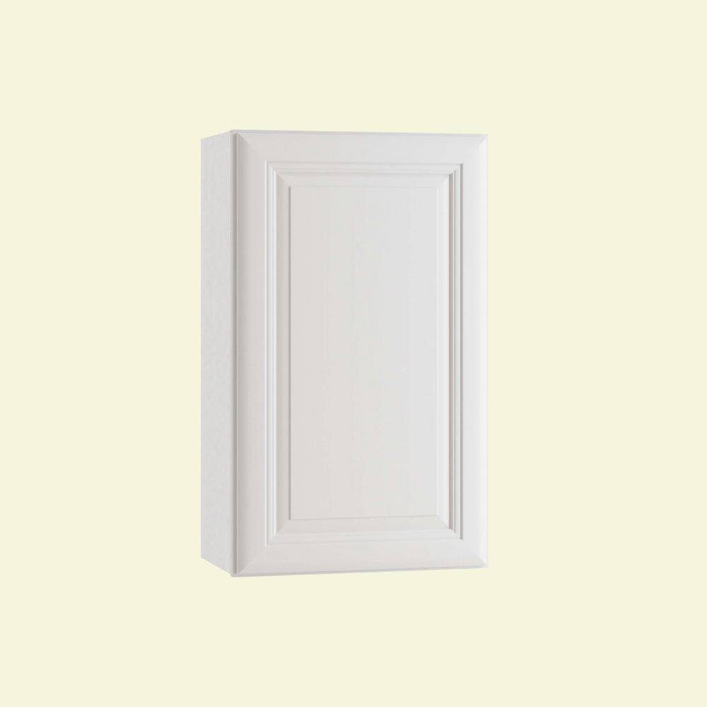 Home Decorators Collection Brookfield Assembled 21 x 36 x 12 in. Plywood Mitered Wall Kitchen Cabinet Left Soft Close in Painted Pacific White