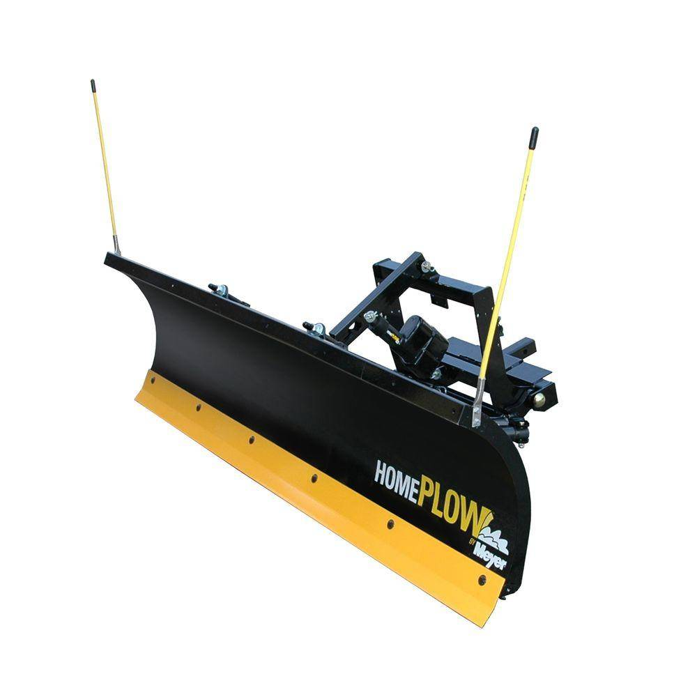 Home Plow by Meyer 80 in. x 22 in. Residential Electric Auto Angle Snow Plow