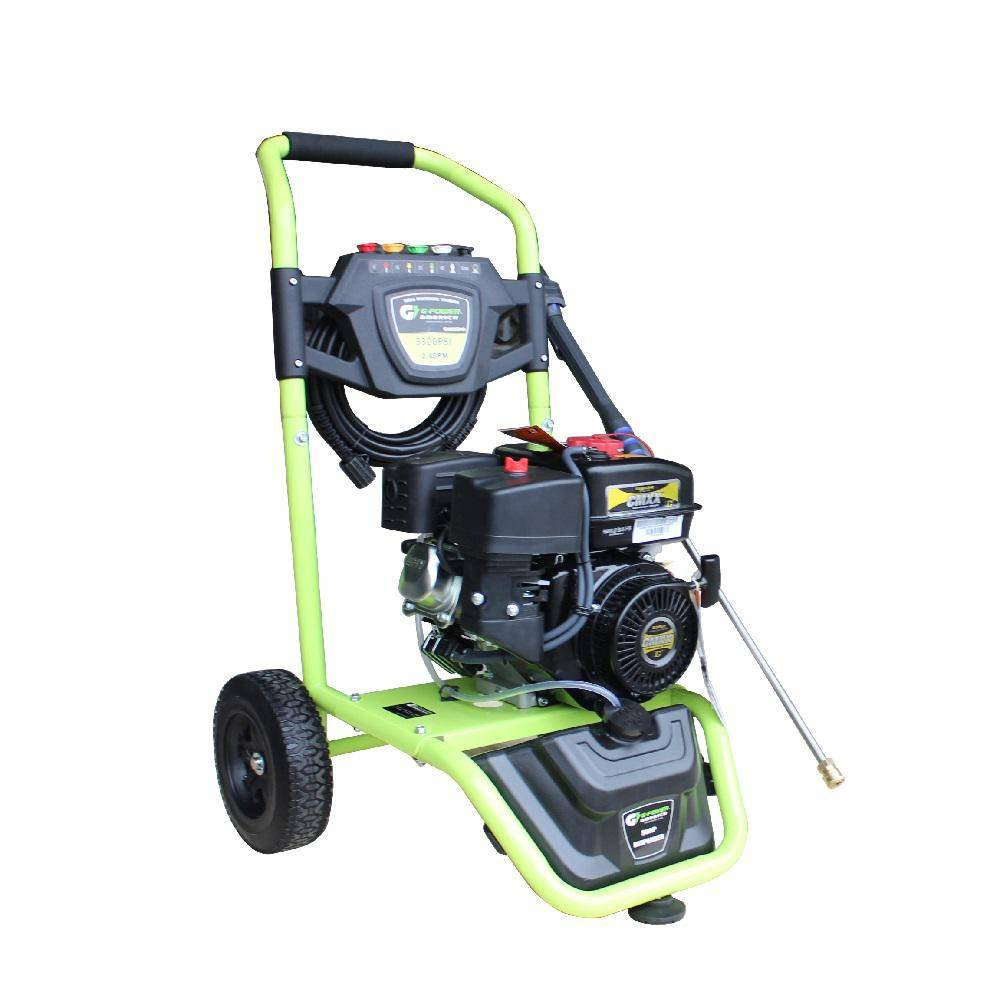 Green-Power 3300 PSI 208 cc Gas Pressure Washer, LCT Professional Engine, CARB Approved