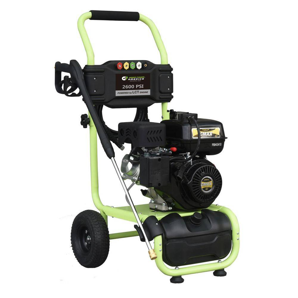Green-Power 2600 psi 2.0 GPM Cam Pump Gas Pressure Washer