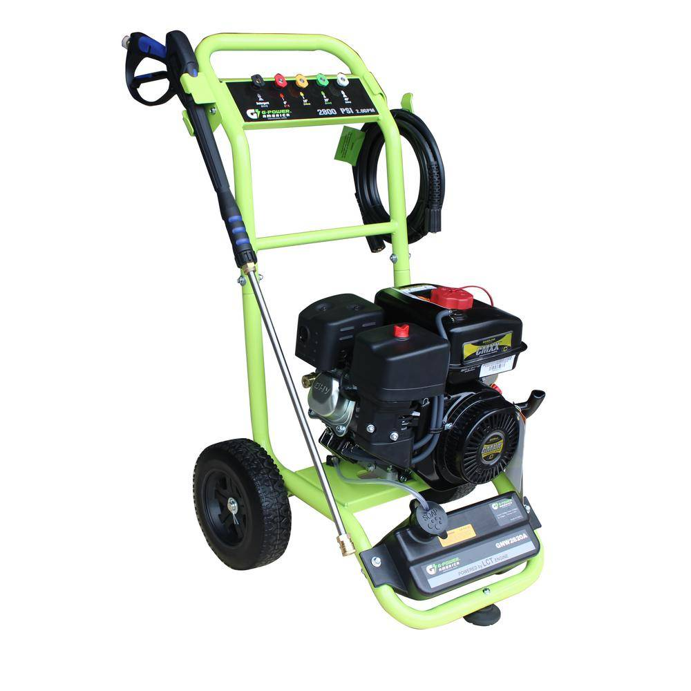 Green-Power 2800 PSI 2.0 GPM Axial Pump Gas Pressure Washer, CARB Approved