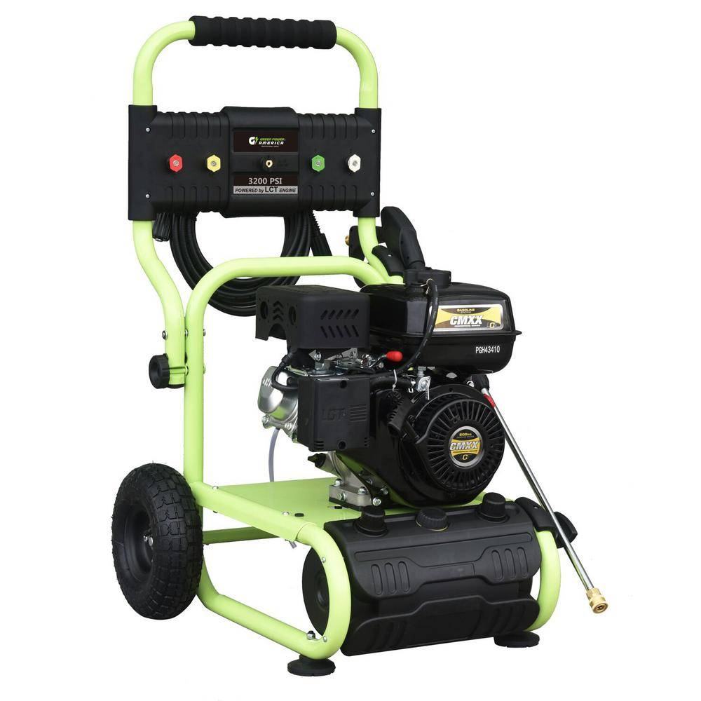 Green-Power 3200 psi 2.4 GPM Cam Pump Gas Pressure Washer Carb Compliant