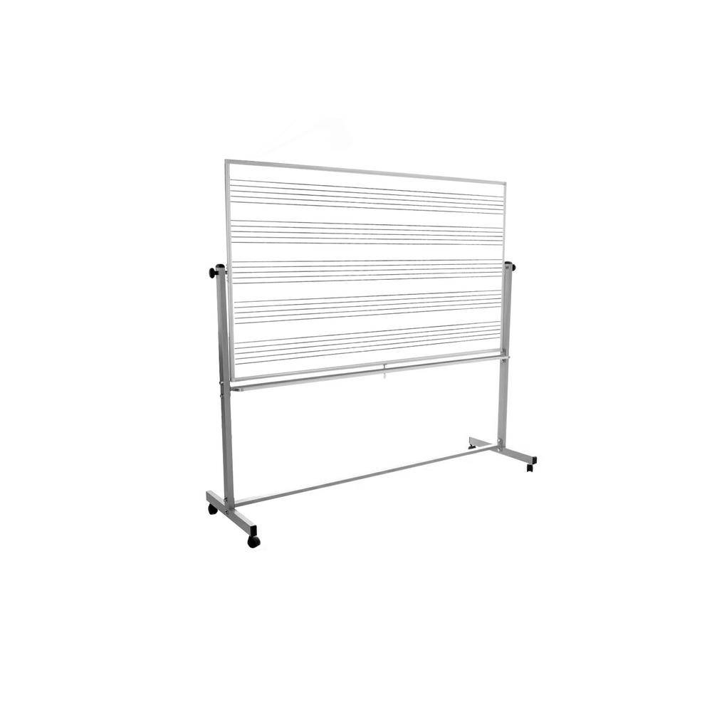 Luxor 72 in. x 48 in. Mobile Music Whiteboard