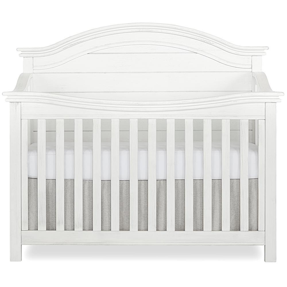 Evolur Belmar Weathered White Curve 5-in-1 Convertible Crib