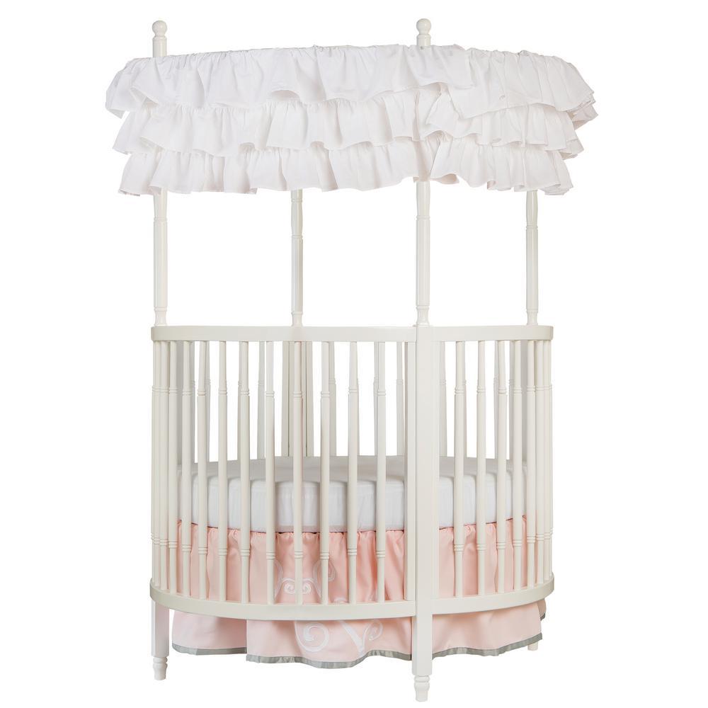 Dream On Me Sophia Posh White Circular Crib