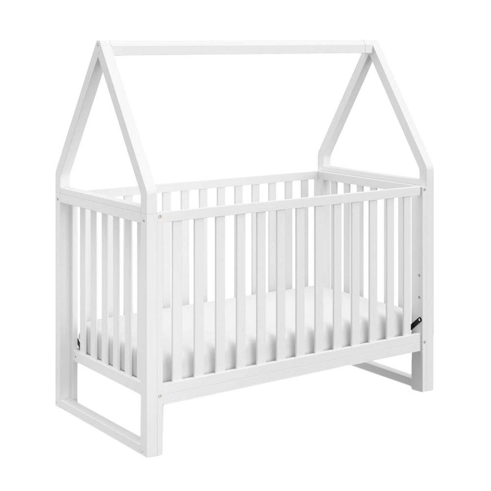 Storkcraft Orchard 5-in-1 Convertible Canopy Crib-White/White