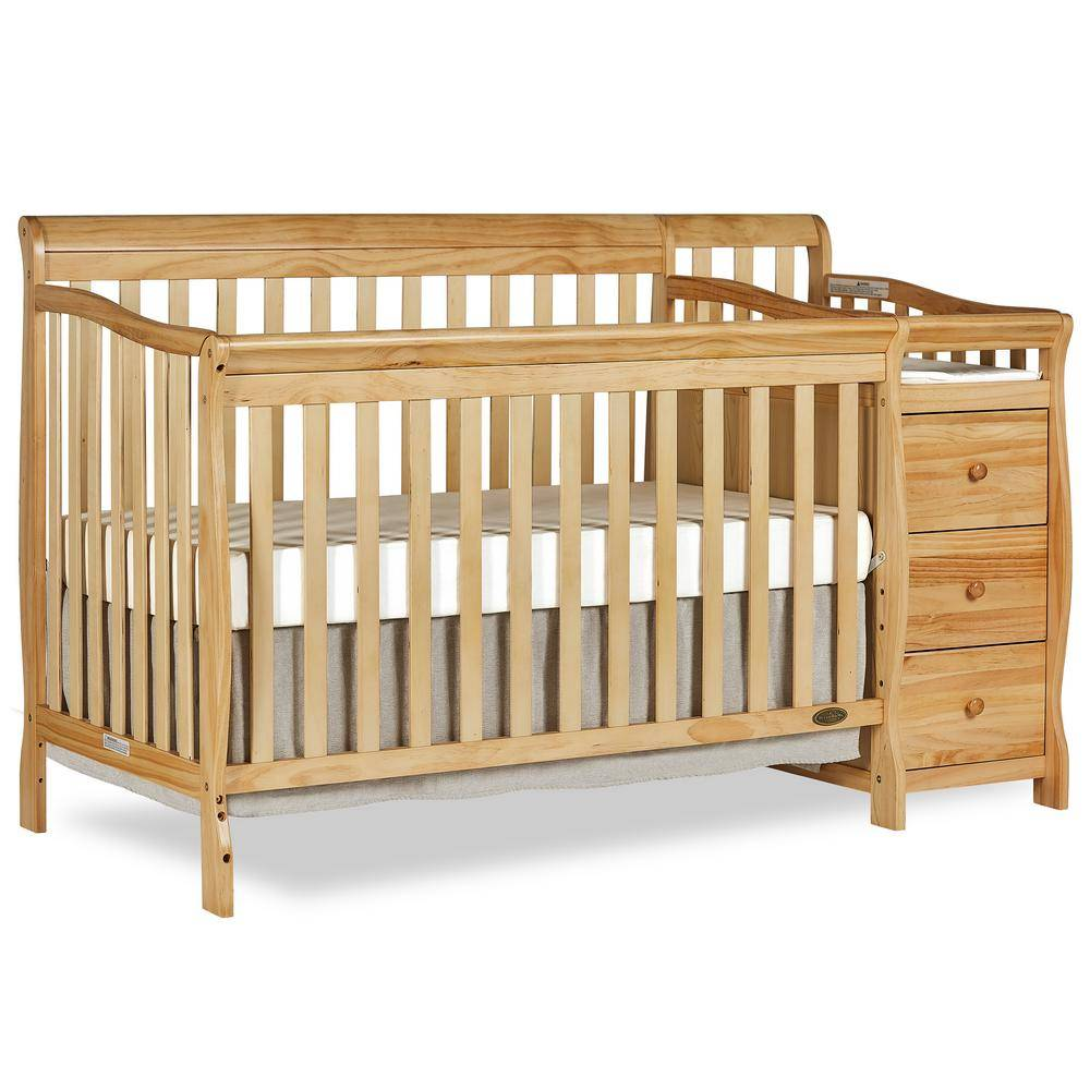 Dream On Me Brody Natural 5-in-1 Convertible Crib with Changer