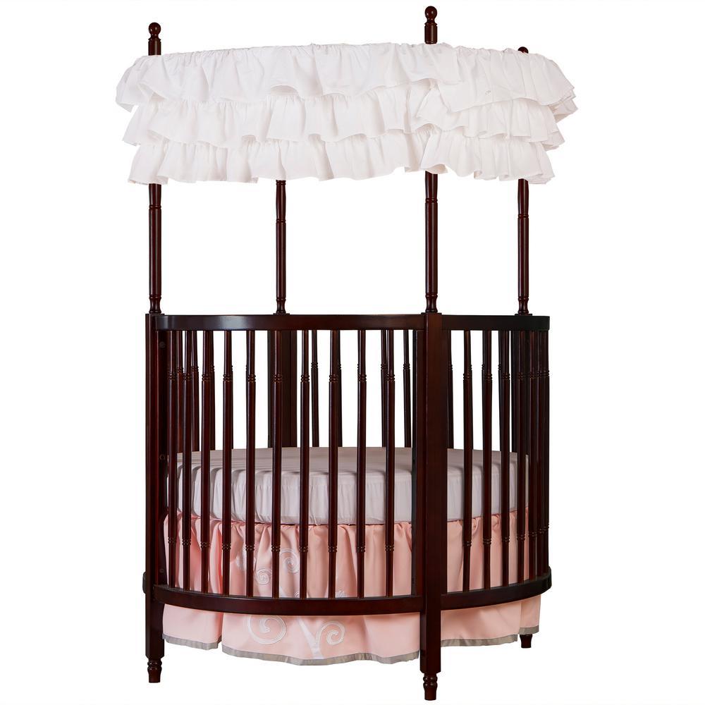Dream On Me Sophia Posh Espresso Circular Crib, Brown