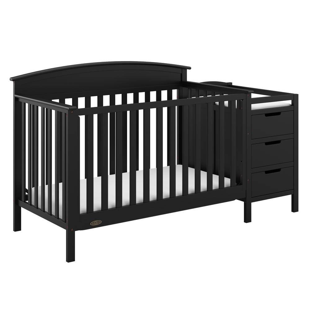 Graco Benton Black 4-in-1 Convertible Crib and Changer