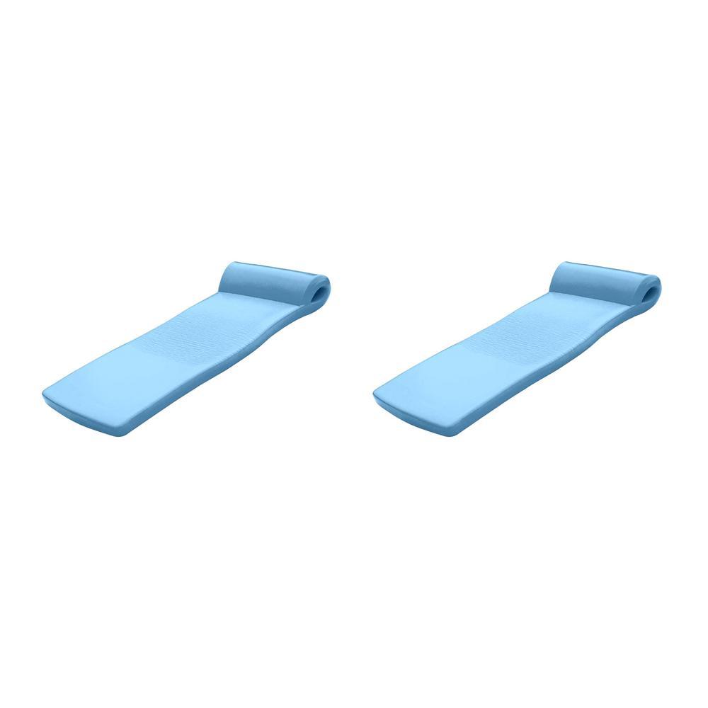 TRC Recreation Blue Super Soft Swimming Pool Float Water Lounger Raft (2-Pack), Metallic Blue