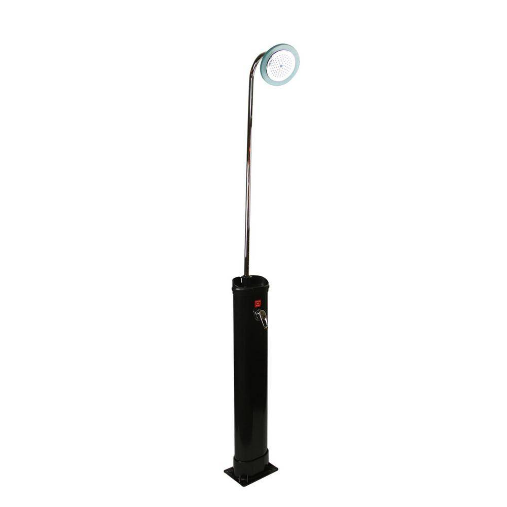 Pool Central 18 l 85 in. LED Lighted Eco-Friendly Solar-Powered Poolside Shower Station