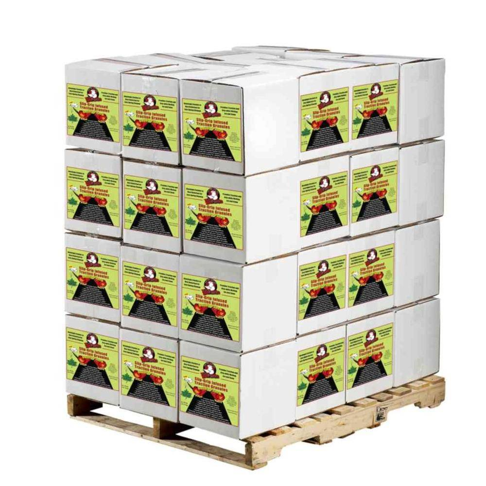 Bare Ground Pallet of 15 lbs. Boxes of SlipGrip Infused Traction Granules
