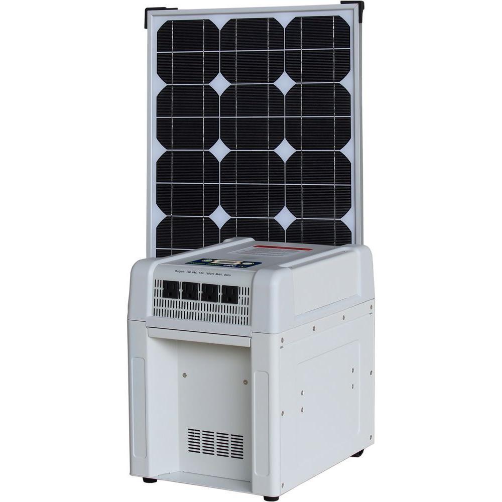 KISAE Home Solar Kit - 1800-Watt Inverter, 60Ah Battery, 8 Amp Charge Controller, 80-Watt Solar Panel