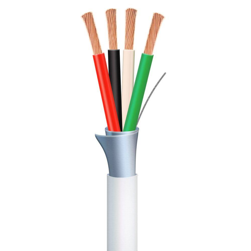 Syston Cable Technology 1,000 ft. 16/4 White Stranded Shielded CMP/CL3P Security Cable