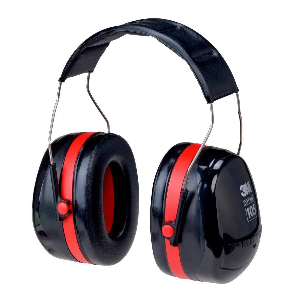 3M PELTOR Optime 105 Over-The-Hear Earmuffs (Case of 10), Red