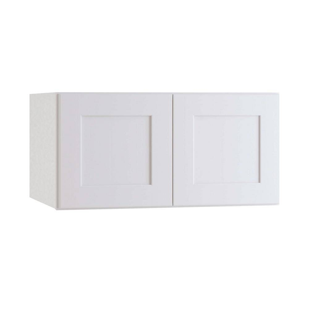 Home Decorators Collection Newport Assembled 36 x 18 x 24 in. Plywood Shaker Deep Wall Kitchen Cabinet Soft Close in Painted Pacific White, Pacific White Painted