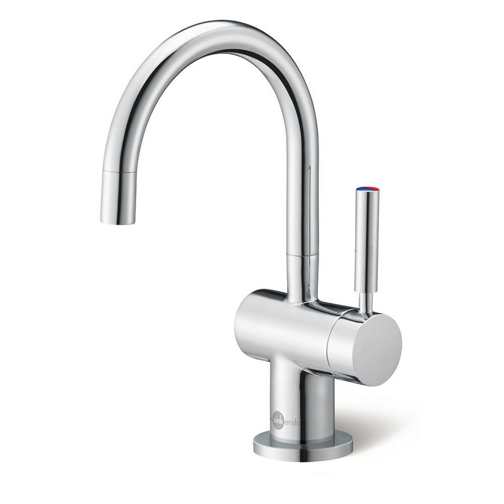 InSinkErator Indulge Modern Single-Handle Instant Hot and Cold Water Dispenser Faucet in Chrome, Grey