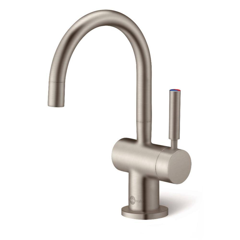 InSinkErator Indulge Modern Single-Handle Instant Hot and Cold Water Dispenser Faucet in Satin Nickel