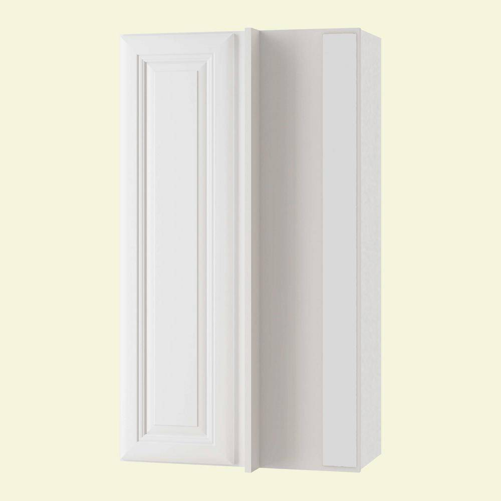 Home Decorators Collection Brookfield Assembled 27x36x12 in. Plywood Wall Blind Corner Kitchen Cabinet Soft Close Right in Painted Pacific White