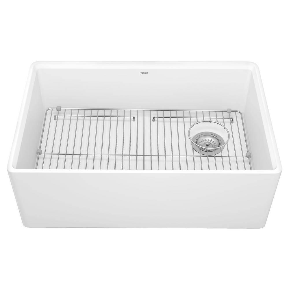 American Standard Avery Dual Mount Apron-Front Fireclay 30 in. Single Bowl Kitchen Sink in Alabaster White