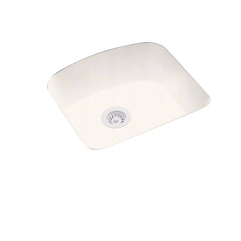 Swanstone Undermount Solid Surface 20.9 in. 0-Hole Single Bowl Kitchen Sink in Baby's Breath