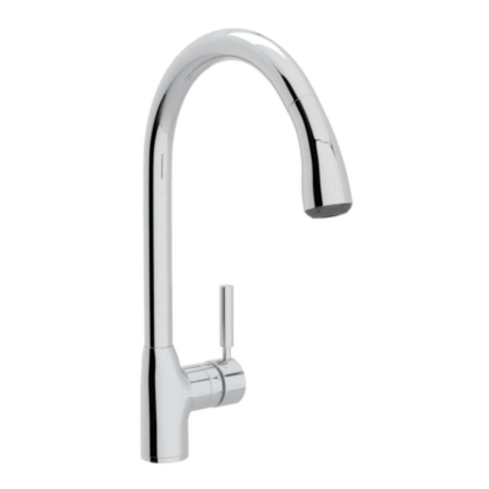 ROHL Modern Lux Single-Handle Pull-Down Sprayer Kitchen Faucet in Polished Chrome