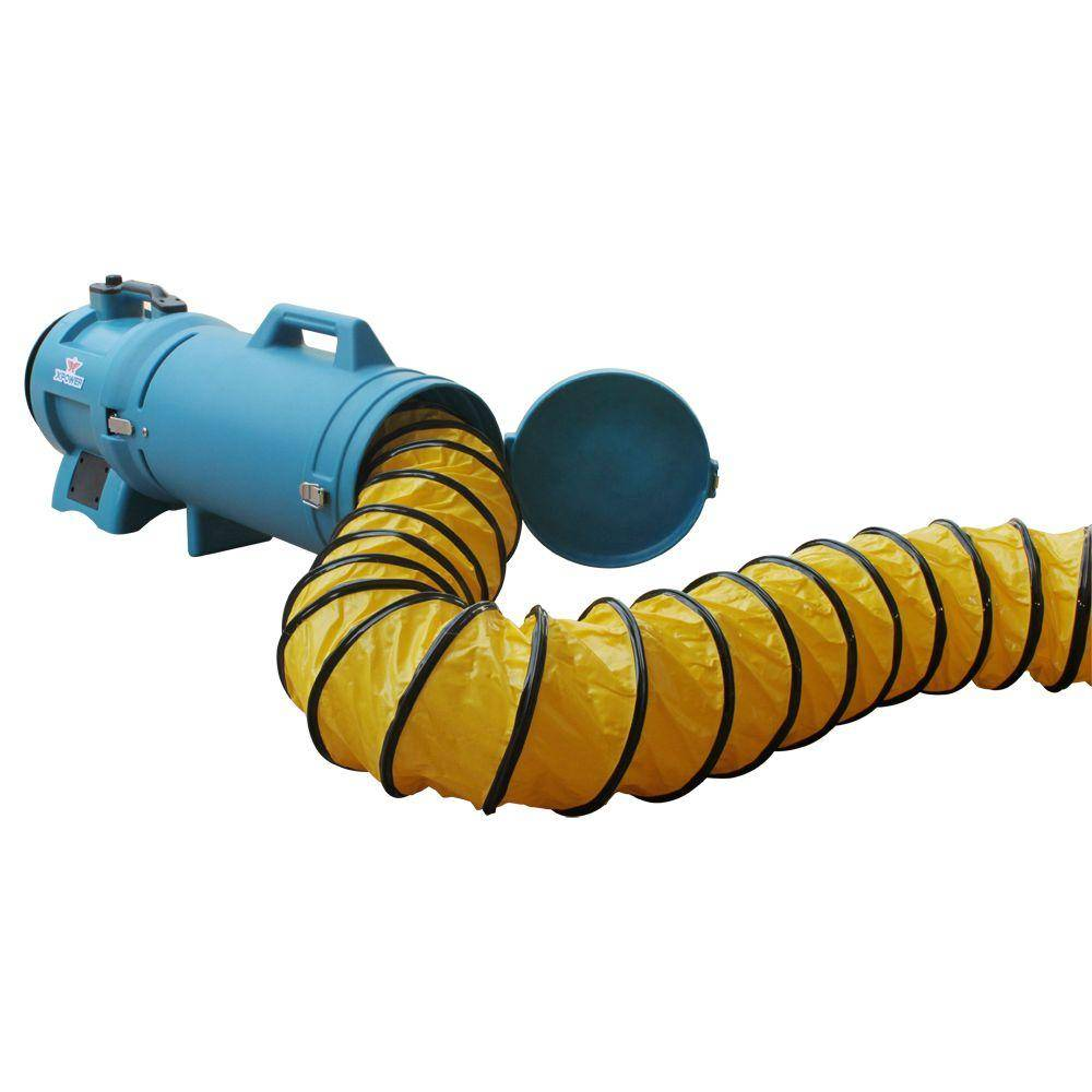 XPOWER 25 ft. PVC Ducting Hose with Carrier