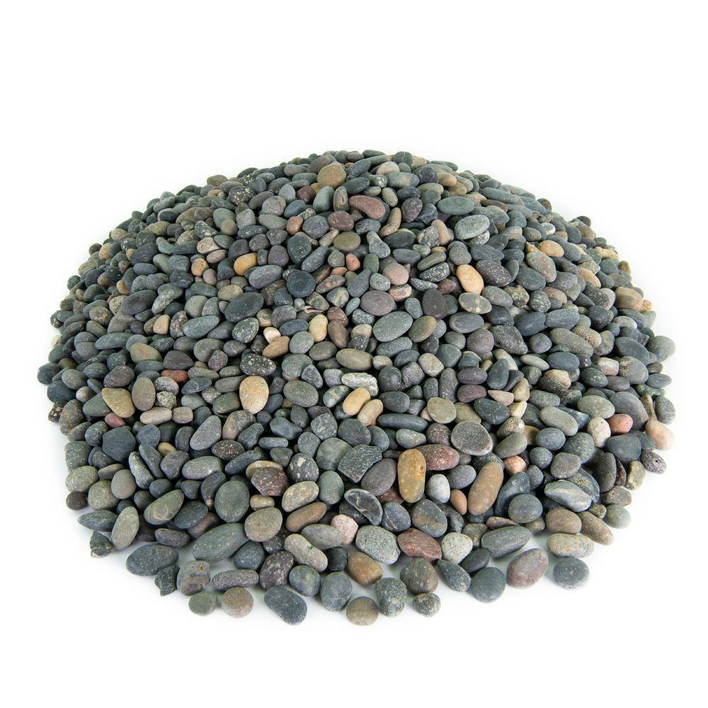 Southwest Boulder & Stone 21.6 cu. ft., 3/8 in. 2000 lbs. Mixed Mexican Beach Pebble Smooth Round Rock for Garden and Landscape Design