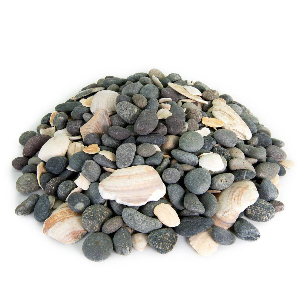 Southwest Boulder & Stone 21.6 cu. ft., 5/8 in. to 7/8 in. 2000 lbs. San Quintin Mexican Beach Pebble Smooth Round Rock for Garden and Landscape