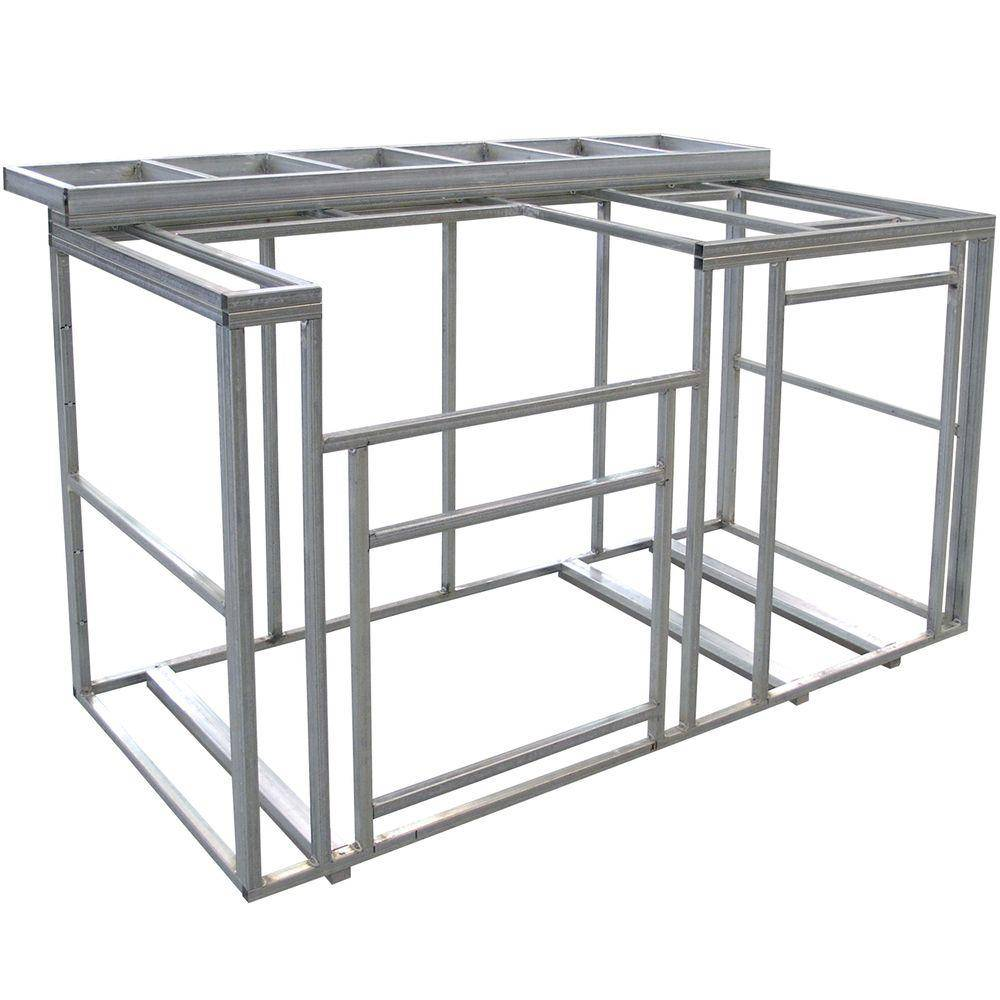 Cal Flame 6 ft. Outdoor Kitchen Island Frame Kit with Bartop