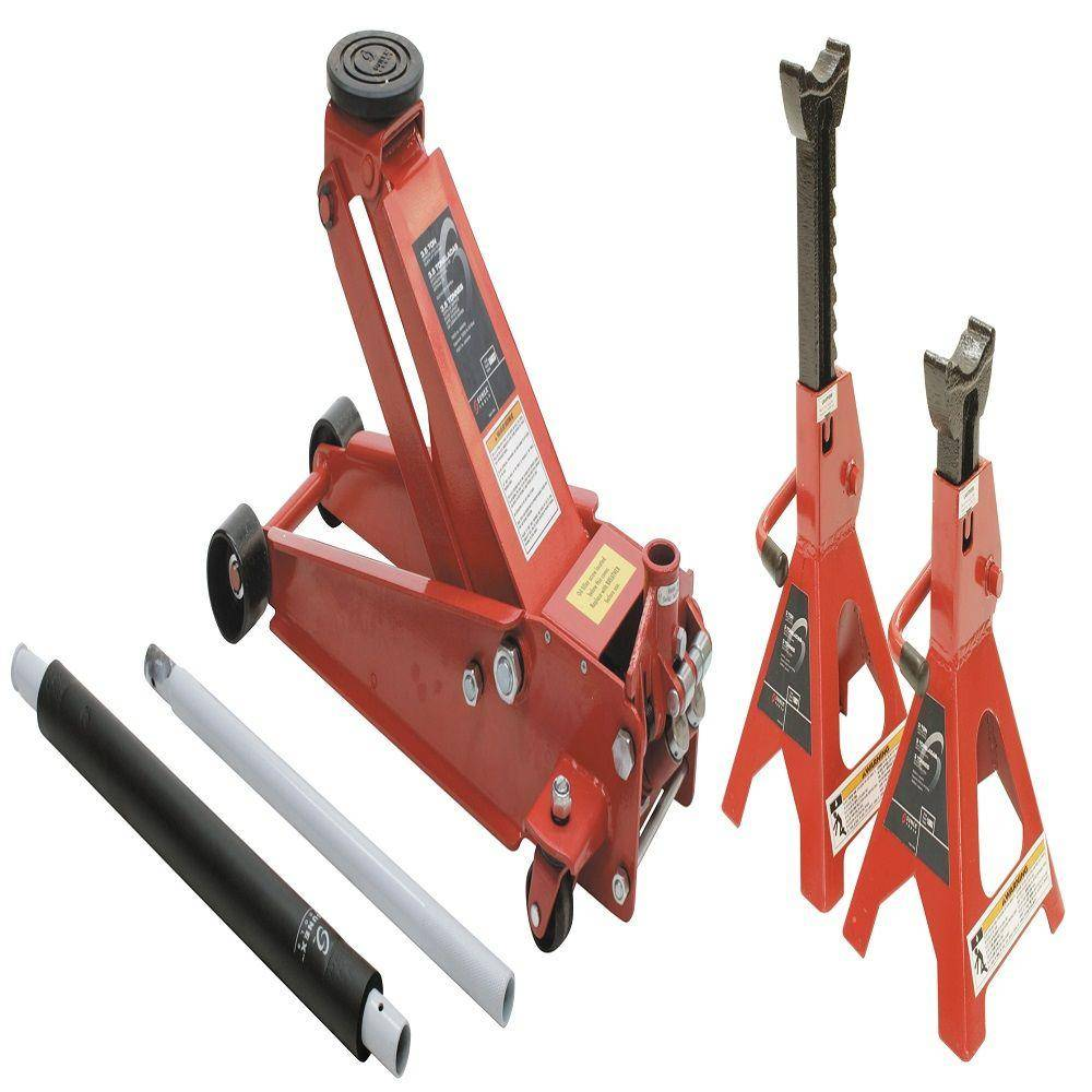 Sunex Tools 3.5 Ton Service Jack with 6 Ton Jack Stands