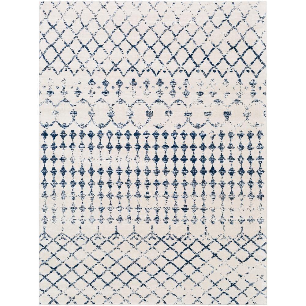 Artistic Weavers Jimena White/Navy 9 ft. x 12 ft. 3 in. Area Rug