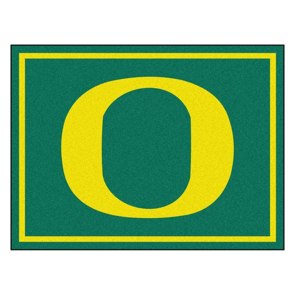 FANMATS NCAA University of Oregon Green 8 ft. x 10 ft. Indoor Area Rug