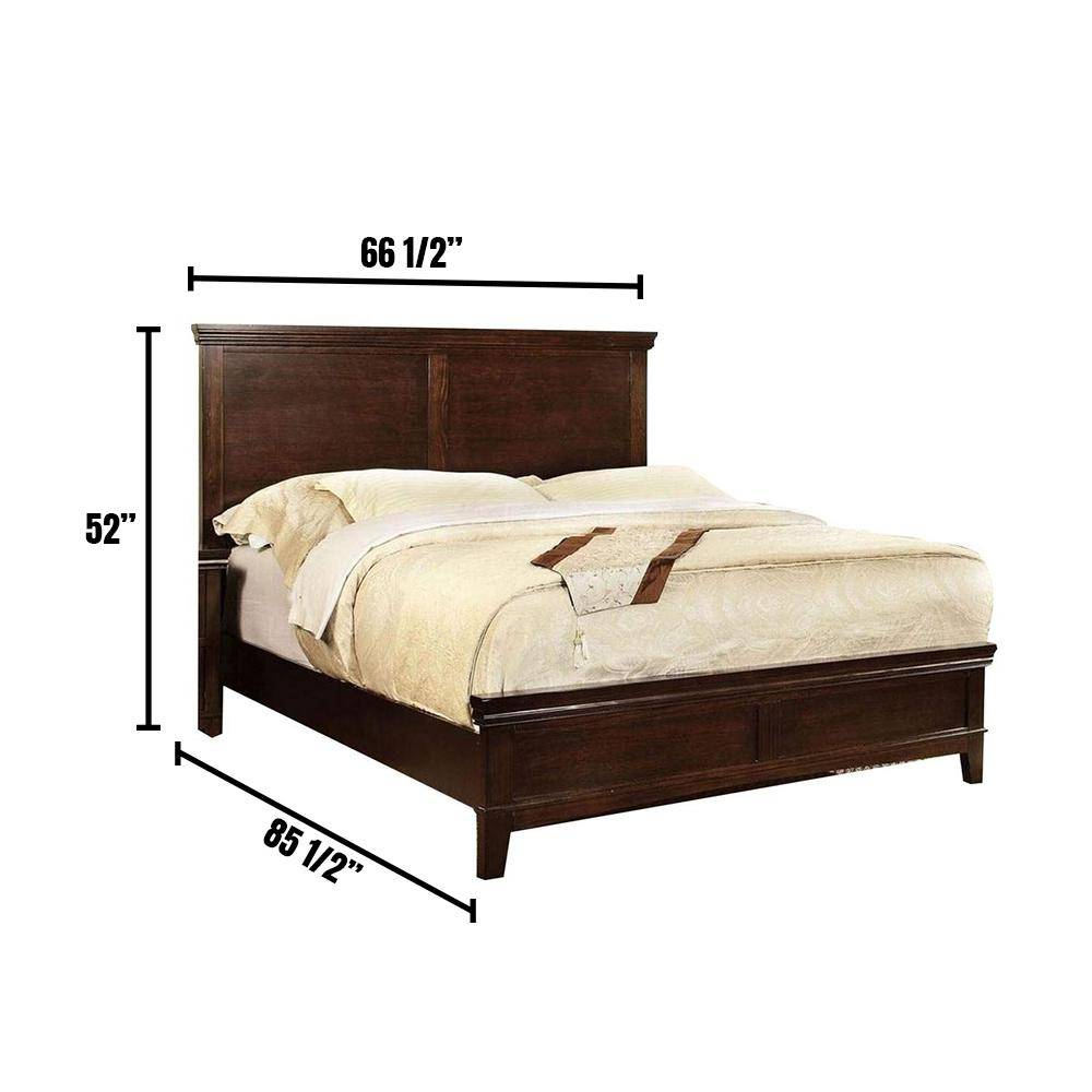 William's Home Furnishing Spruce Brown Cherry Queen Bed