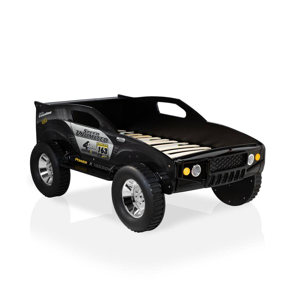 Furniture of America Andres Black Twin Car Bed