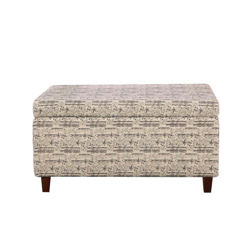 Nathaniel Home Multi-Colored Symphony Patterned Deep Storage Ottoman