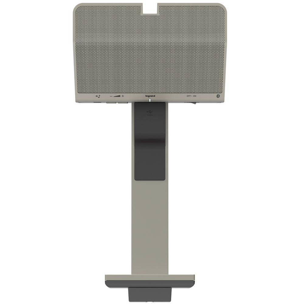 Legrand adorne Under Cabinet Digital Music Kit - Docking Station with Integral Speaker + Wireless Remote Speaker, Silver