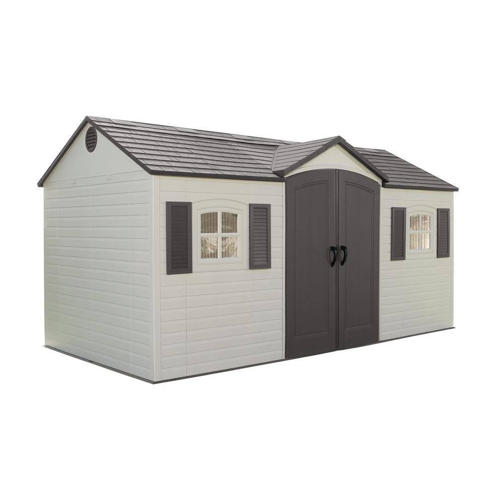 Lifetime 15 ft. x 8 ft. Outdoor Garden Shed, Browns / Tans