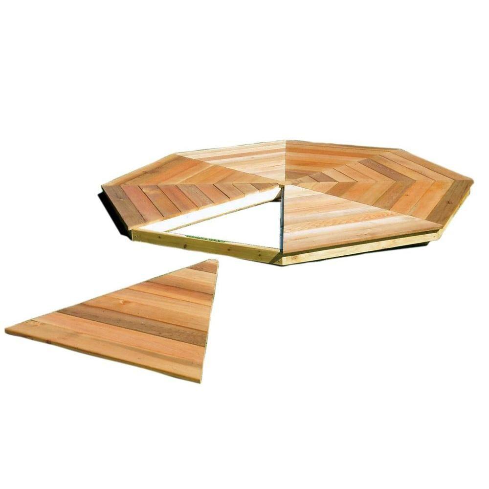 Handy Home Products San Marino 10 ft. Gazebo Floor Kit, Browns / Tans