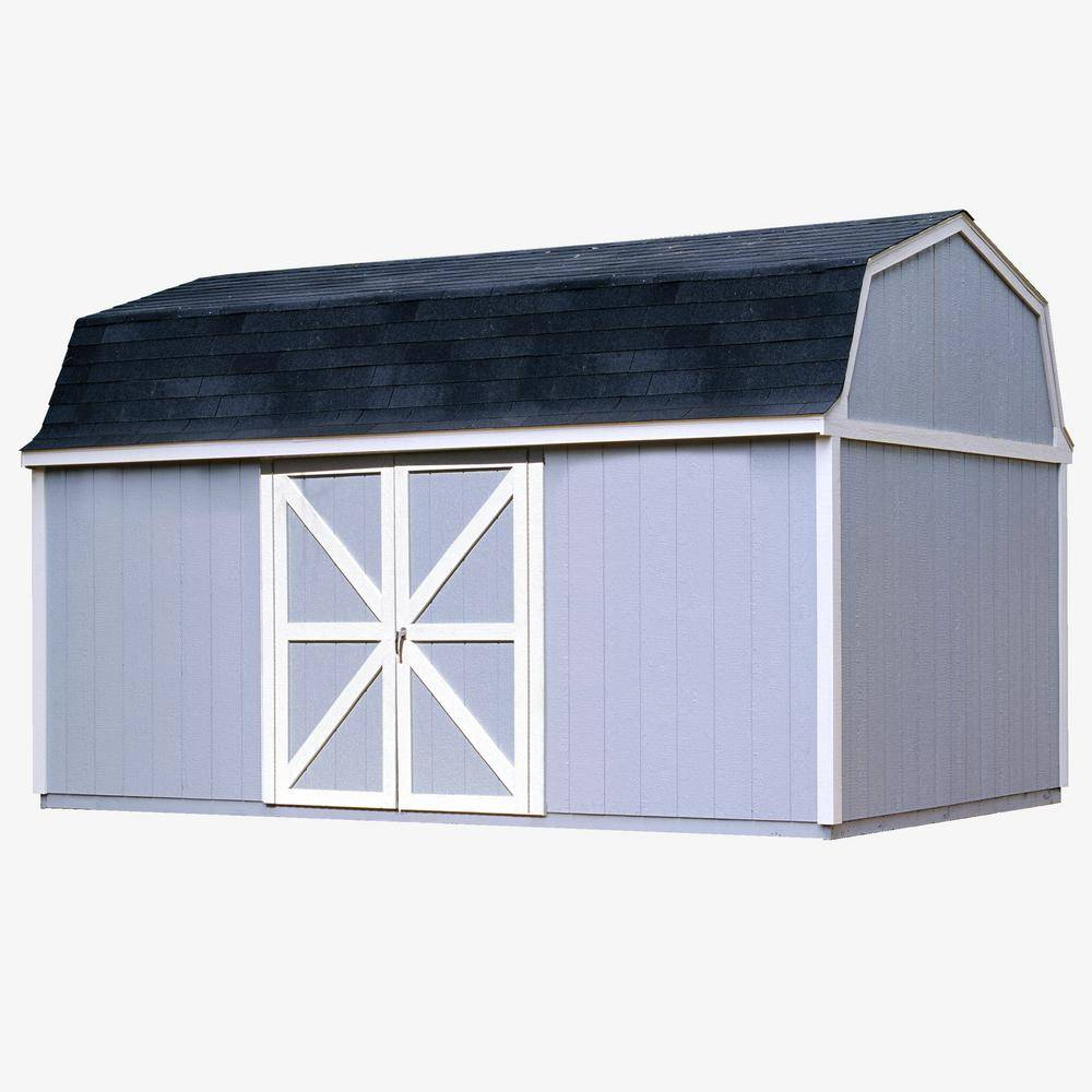Handy Home Products Berkley 10 ft. x 18 ft. Wood Storage Building Kit with Floor, Multi
