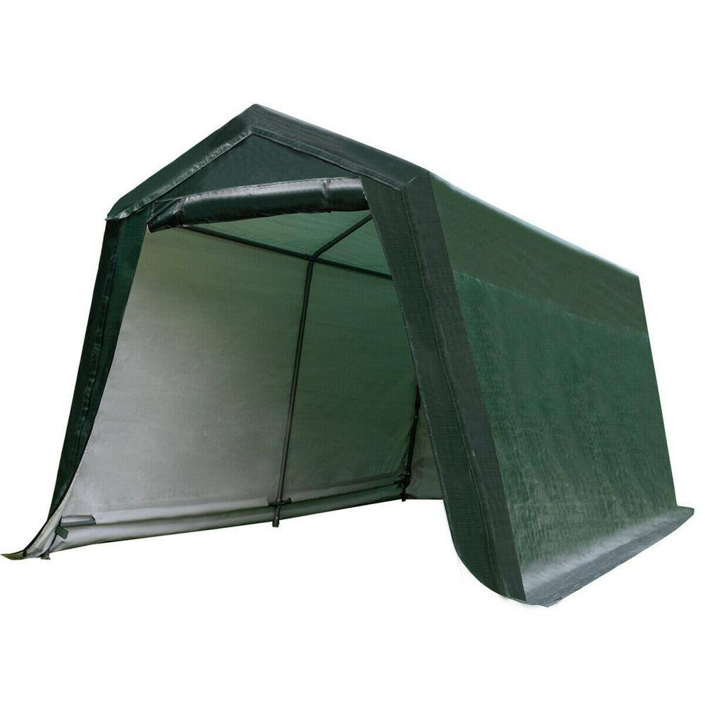 CASAINC 10 ft. x 10 ft. Green Patio Tent Carport Storage Shelter Shed Car Canopy