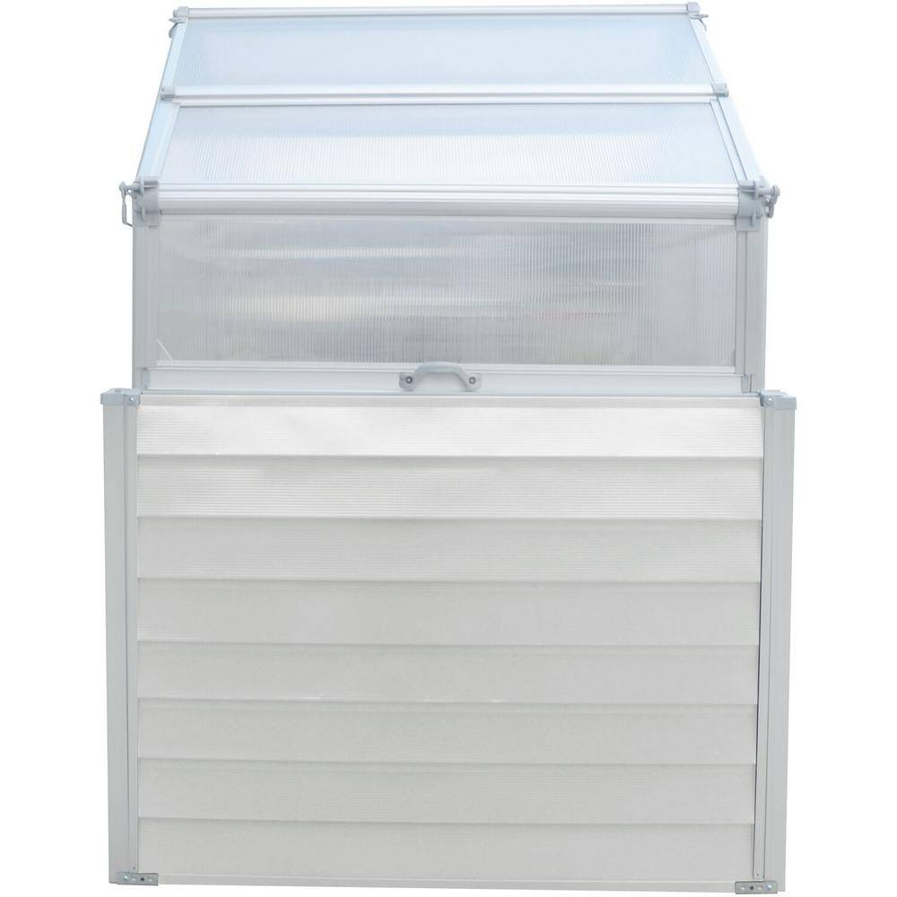Hanover 47 in. x 47 in. x 66.50 in. Elevated Compact Greenhouse with Dual Garden Bed