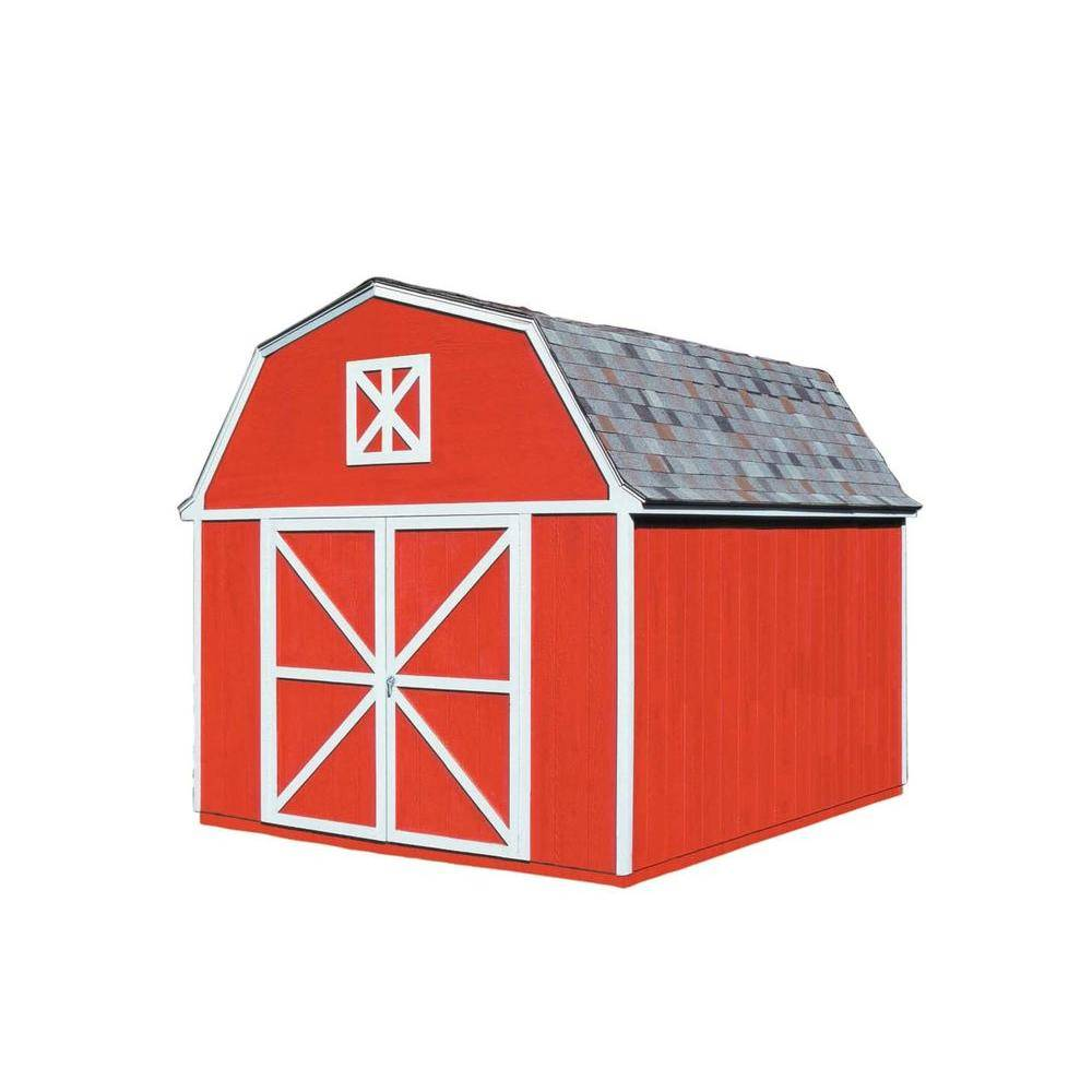 Handy Home Products Berkley 10 ft. x 14 ft. Wood Storage Building Kit, Multi