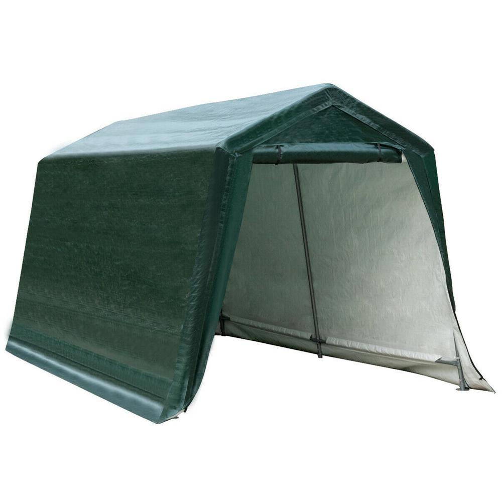 CASAINC 8 ft. x 14 ft. Green Patio Car Tent Carport Storage Shelter Shed Canopy