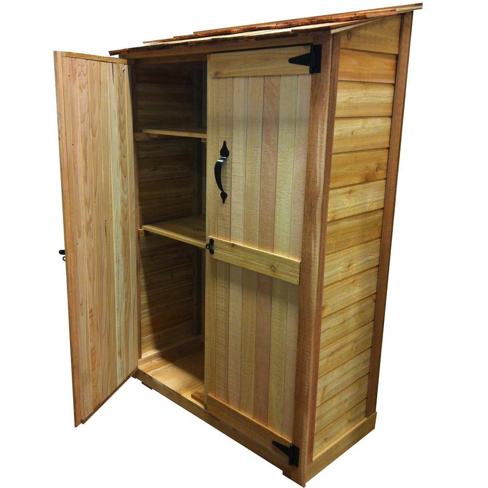 Outdoor Living Today 4 ft. x 2 ft. Cedar Garden Storage Shed, Browns / Tans