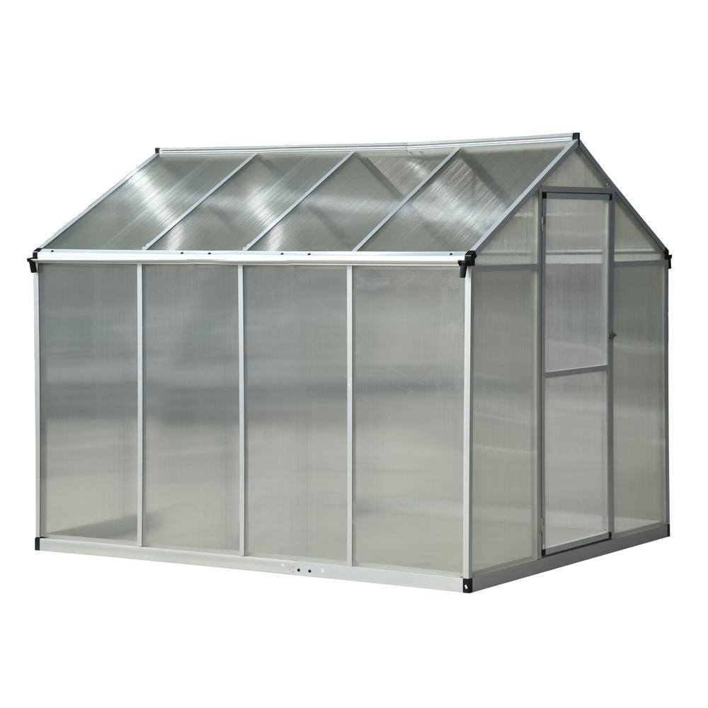 Outsunny 6.25 ft. W x 8 ft. Stable Outdoor Walk-In Garden Greenhouse with Roof Vent for Plants, Herbs and Vegetables