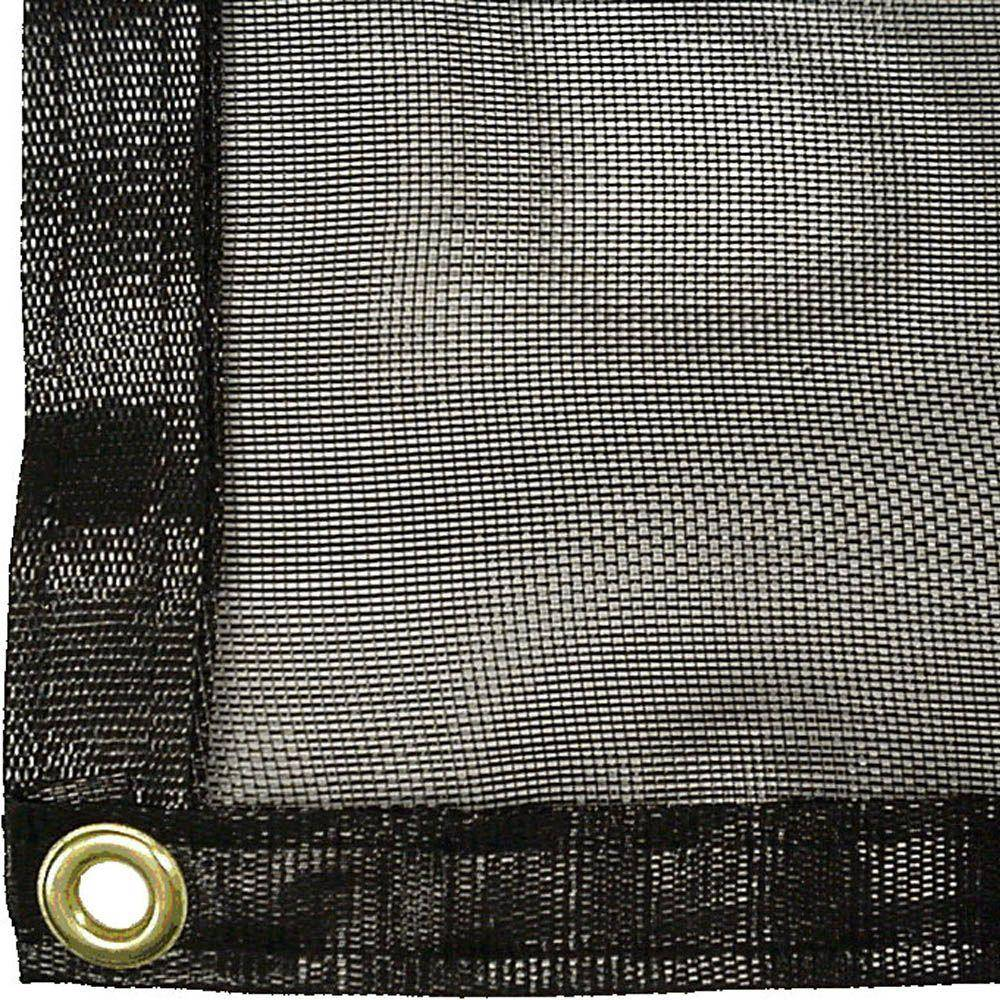 RSI 12 ft. x 30 ft. Knitted Shade Clothes with Grommets and 70% Shade Protection, Blacks