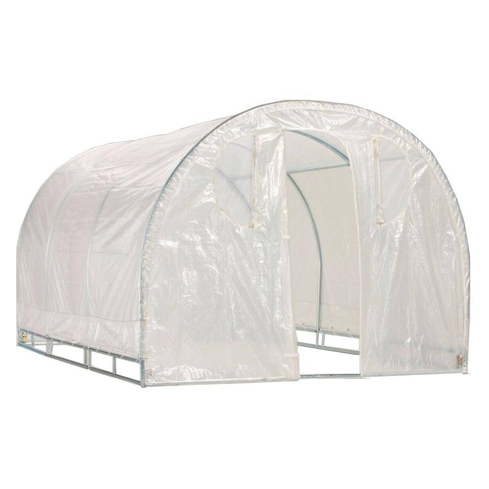 Weatherguard 6 ft. 6 in. x 8 ft. x 8 ft. Round Top Greenhouse
